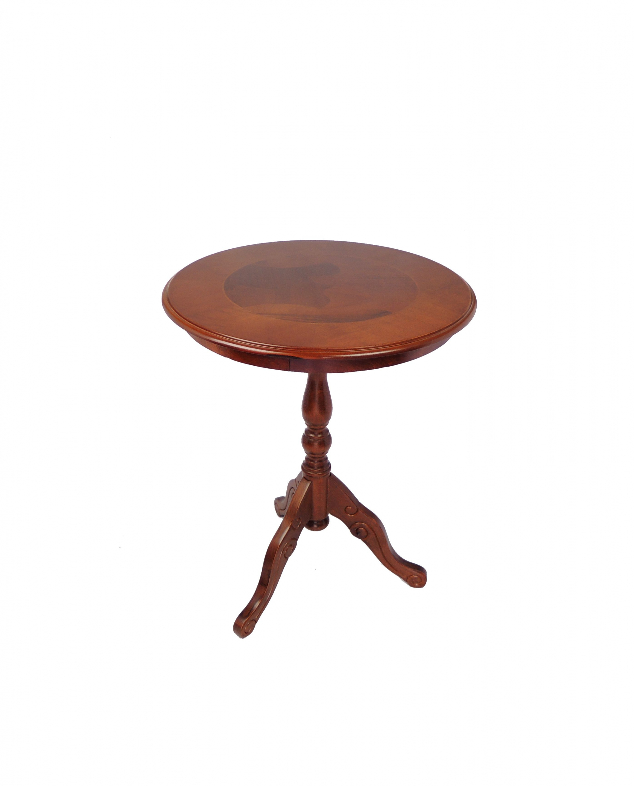 Kulatý odkládací stolek rustikal