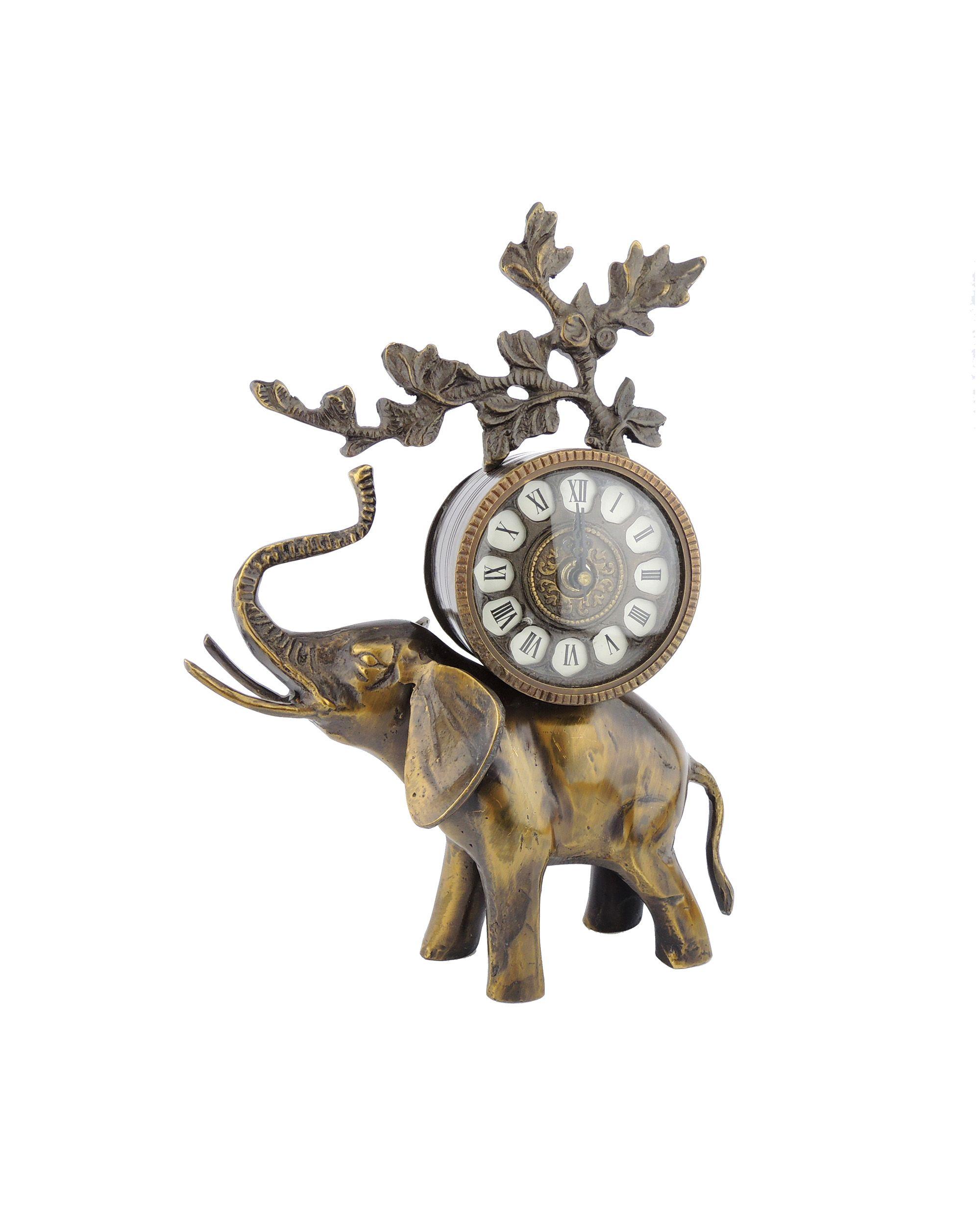 Bronzové hodiny slon
